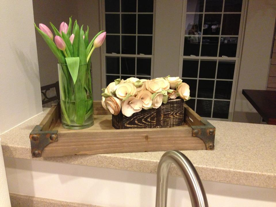 kitchen counter tulips